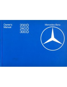 1982 MERCEDES BENZ E CLASS DIESEL OWNER'S MANUAL ENGLISH
