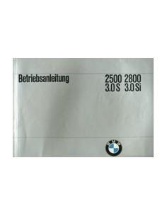 1973 BMW 2500 3000 3.0 S SI INSTRUCTIEBOEKJE DUITS