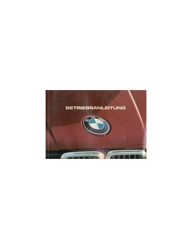 1983 BMW 3 SERIE INSTRUCTIEBOEKJE DUITS