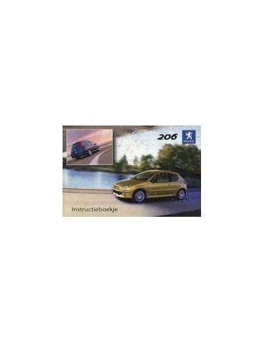 2004 PEUGEOT 206 INSTRUCTIEBOEKJE NEDERLANDS