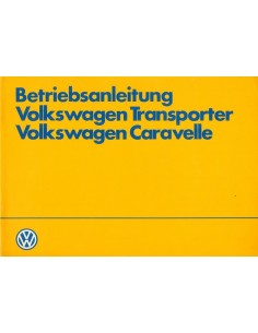 1983 VOLKSWAGEN CARAVELLE TRANSPORTER INSTRUCTIEBOEKJE DUITS