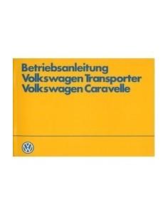 1984 VOLKSWAGEN CARAVELLE TRANSPORTER INSTRUCTIEBOEKJE DUITS