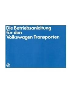 1982 VOLKSWAGEN TRANSPORTER INSTRUCTIEBOEKJE DUITS