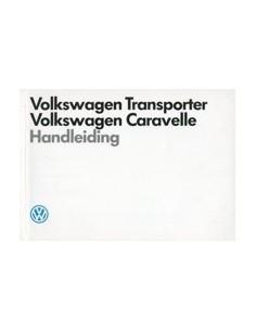 1989 VOLKSWAGEN CARAVELLE TRANSPORTER INSTRUCTIEBOEK NEDERLANDS