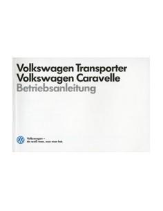 1989 VOLKSWAGEN CARAVELLE TRANSPORTER INSTRUCTIEBOEKJE DUITS