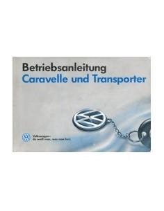 1992 VOLKSWAGEN CARAVELLE TRANSPOTER INSTRUCTIEBOEKJE DUITS