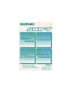 1990 SUZUKI SWIFT INSTRUCTIEBOEKJE NEDERLANDS ENGELS