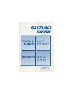 1983 SUZUKI SWIFT INSTRUCTIEBOEKJE NEDERLANDS ENGELS