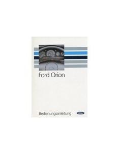 1990 FORD ORION INSTRUCTIEBOEKJE DUITS