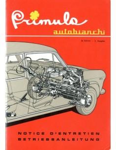 1965 AUTOBIANCHI PRIMULA INSTRUCTIEBOEKJE FRANS DUITS