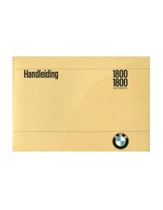 1969 BMW 1800 & AUTOMATIC INSTRUCTIEBOEKJE NEDERLANDS