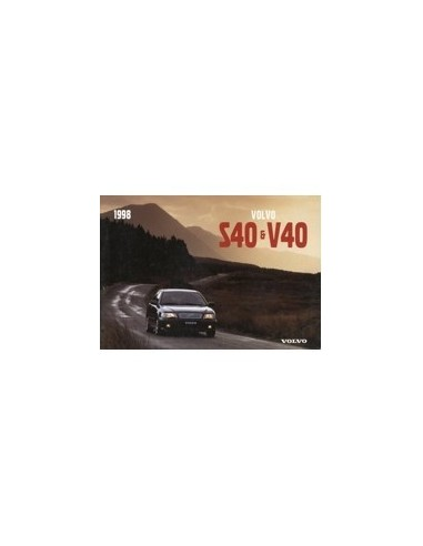 1998 volvo s40 v40 owners manual handbook englisch automotive rh autolit eu Volvo C30 Volvo C70