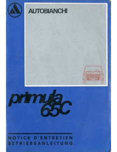 1969 AUTOBIANCHI PRIMULA 65C INSTRUCTIEBOEKJE FRANS DUITS