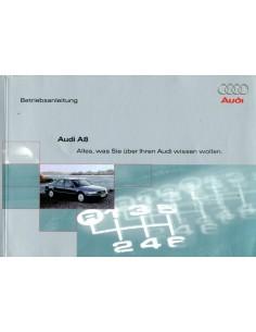 2000 AUDI A8 INSTRUCTIEBOEKJE DUITS