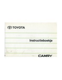 1991 TOYOTA CAMRY INSTRUCTIEBOEKJE NEDERLANDS