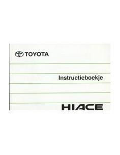 1995 TOYOTA HIACE INSTRUCTIEBOEKJE NEDERLANDS