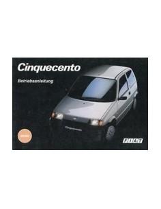 1992 FIAT CINQUECENTO INSTRUCTIEBOEKJE DUITS