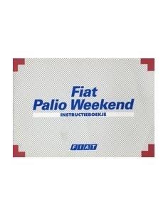 1999 FIAT PALIO WEEKEND INSTRUCTIEBOEKJE NEDERLANDS