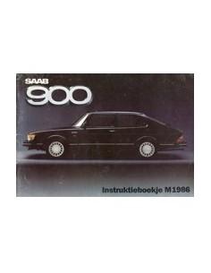 1986 SAAB 900 INSTRUCTIEBOEKJE NEDERLANDS