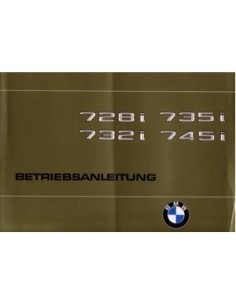 1980 BMW 7 SERIE INSTRUCTIEBOEKJE DUITS