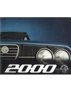 1973 ALFA ROMEO 2000 BERLINA BROCHURE NEDERLANDS