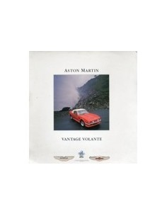 1987 ASTON MARTIN VANTAGE VOLANTE BROCHURE DUITS