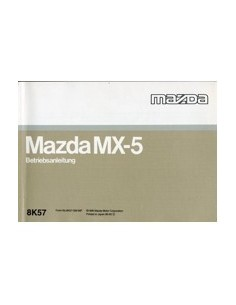 1996 MAZDA MX-5 INSTRUCTIEBOEKJE DUITS