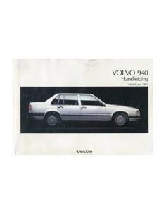1992 VOLVO 940 INSTRUCTIEBOEKJE NEDERLANDS
