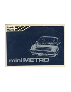 1980 AUSTIN MINI METRO INSTRUCTIEBOEKJE NEDERLANDS