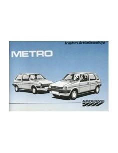 1988 AUSTIN METRO INSTRUCTIEBOEKJE NEDERLANDS