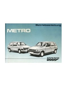 1988 AUSTIN METRO INSTRUCTIEBOEKJE DUITS