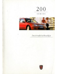 1998 ROVER 200 INSTRUCTIEBOEKJE NEDERLANDS