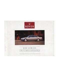 1990 ROVER 800 INSTRUCTIEBOEKJE NEDERLANDS
