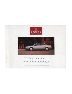 1990 ROVER 800 INSTRUCTIEBOEKJE NEDERLANDS