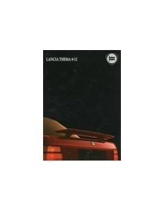 1987 LANCIA THEMA 8.32 BROCHURE ENGELS