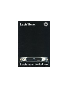 1987 LANCIA THEMA BROCHURE NEDERLANDS