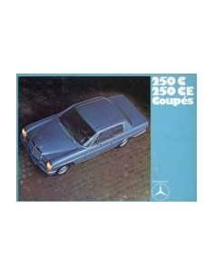 1970 MERCEDES BENZ E KLASSE COUPE BROCHURE NEDERLANDS