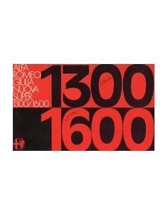 1975 ALFA ROMEO GIULIA NUOVA SUPER 1.3 / 1.6 BROCHURE ITALIAANS