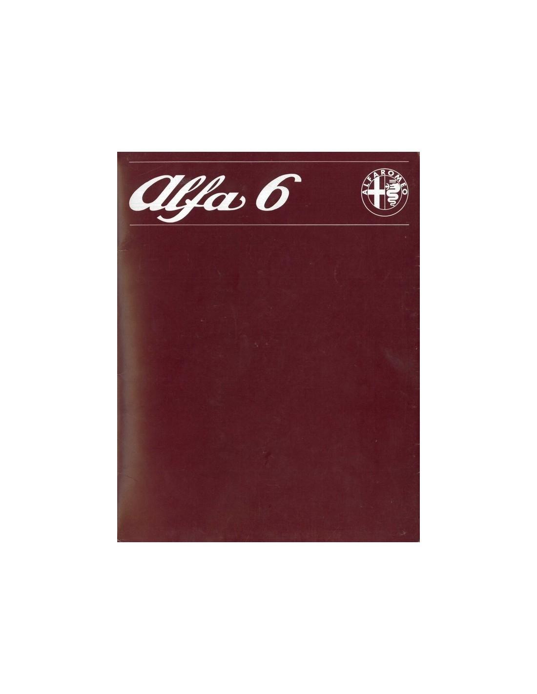 1979 ALFA ROMEO 6 BROCHURE DUTCH