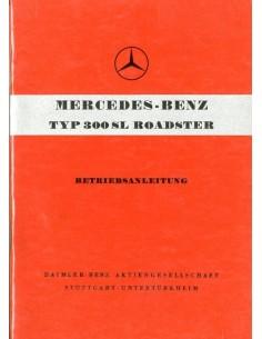 1957 MERCEDES BENZ 300 SL ROADSTER INSTRUCTIEBOEKJE DUITS