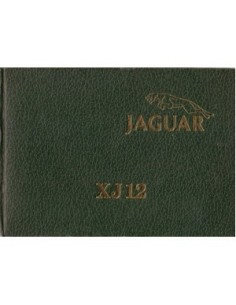 1979 JAGUAR XJ12 SERIE 3 INSTRUCTIEBOEKJE HARDCOVER ENGELS