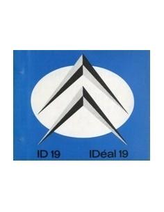 1963 CITROEN ID 19 INSTRUCTIEBOEKJE NEDERLANDS
