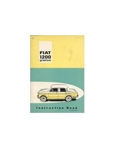 1960 FIAT 1200 GRANLUCE INSTRUCTIEBOEKJE ENGELS