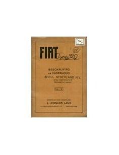 1928 FIAT TYPE 520 INSTRUCTIEBOEKJE NEDERLANDS