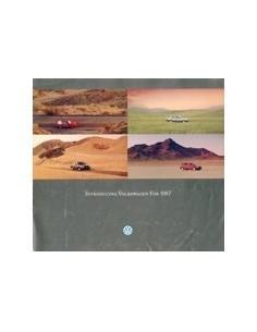 1987 VOLKSWAGEN PROGRAMMA BROCHURE ENGELS USA