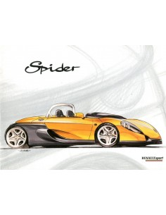 1996 RENAULT SPORT SPIDER BROCHURE FRANS ENGELS