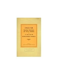 1949 JAGUAR 3.5 XK 120 INSTRUCTIEBOEKJE ENGELS