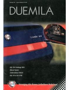 2001 ALFA ROMEO CLUB DUEMILA MAGAZINE 64 NEDERLANDS