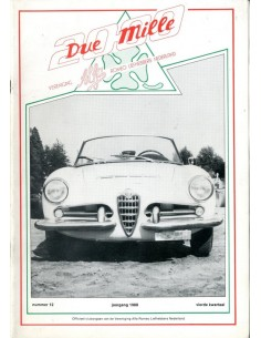 1988 ALFA ROMEO CLUB DUE MILLE MAGAZINE 12 NEDERLANDS
