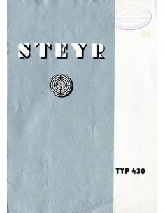 1933 STEYR TYP 430 BROCHURE DUITS
